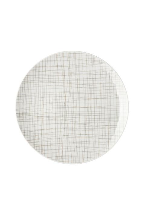 R_Mesh_Line Walnut_Plate 27 cm flat