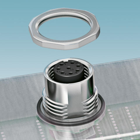 Housing screw connections for THR and SMD contact carrie