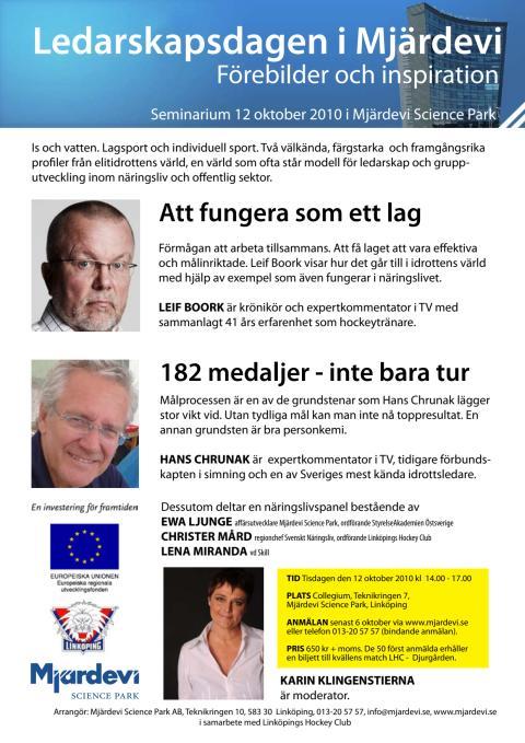 Inbjudan Ledarskapsdagen i Mjärdevi