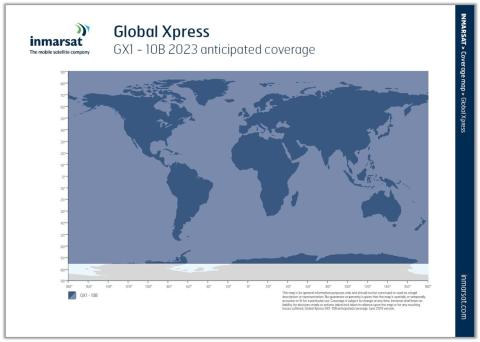 Image - Inmarsat - Global Xpress coverage map