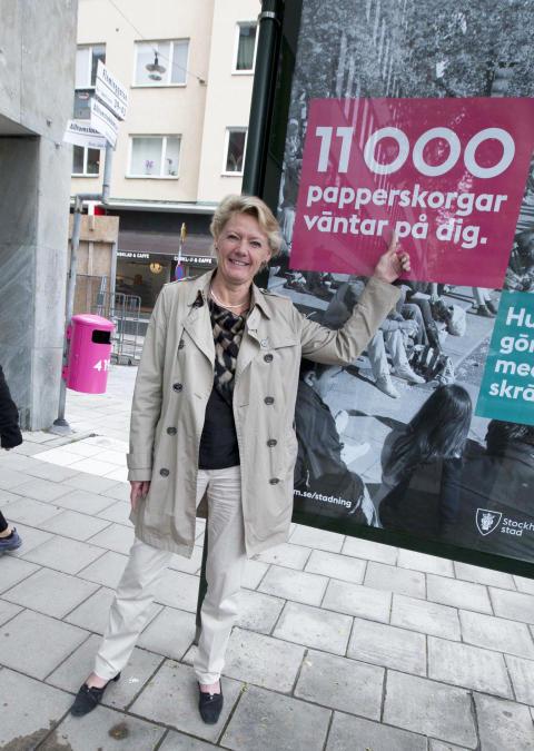 Ulla Hamilton (M): Nedskräpning den enskildes ansvar enligt en majoritet av stockholmarna