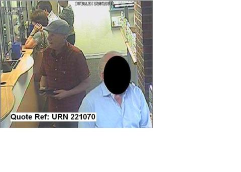 Man sought in connection with bank card fraud