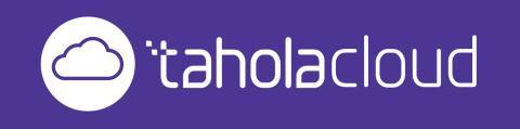 Cloud - White on Purple - TaholaCloud & Logo