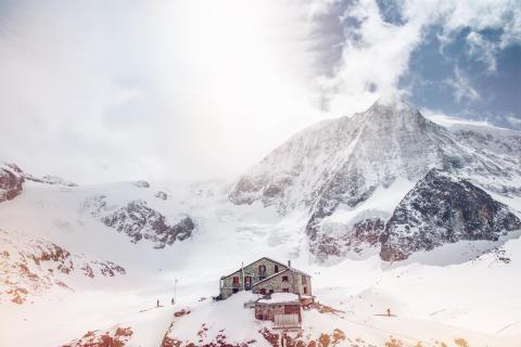 Cabane des Dix, Mt. Blanc Cheillon, Winter im Wallis