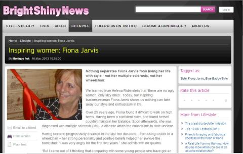Blue Badge Style Founder Named One Of Bright Shiny News' Inspiring Women