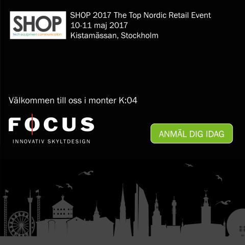 Focus Neon ställer ut på SHOP 2017 på Kistamässan