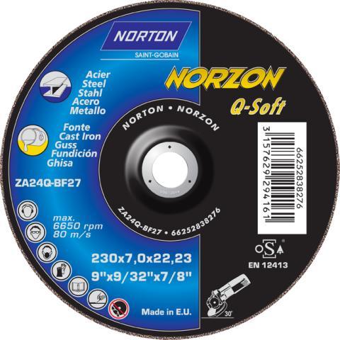 Nieuwe Norton afbraamschijven voor het slijpen van gietijzer