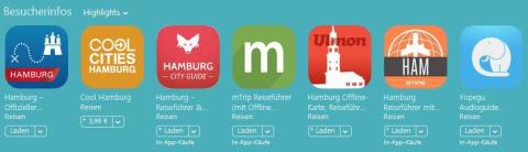 Hamburg-App, Promotion App-Store