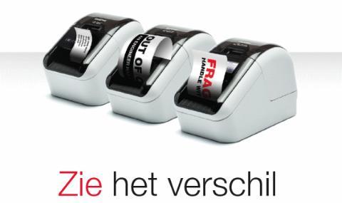 Labels in zwart en rood printen - een wereldprimeur van Brother met labelprinters QL-800, QL-810W, QL-820NWB