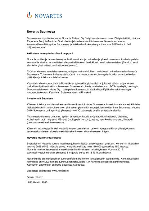 Novartis Suomessa
