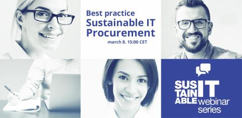 Webinar: Best practice in Sustainable IT Procurement on March 8, 2016