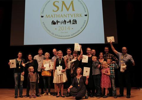 Årets vinnare i Öppna SM i Mathantverk 2014