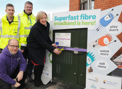 Connecting Cheshire roll-out of high-speed fibre broadband has now reached more than 2,300 Chester city Centre premises