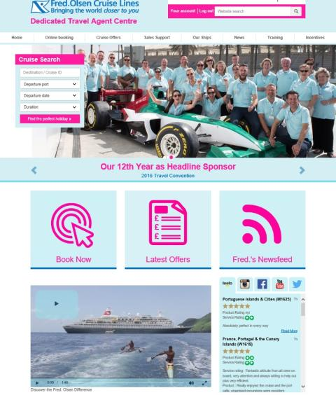Fred. Olsen Cruise Lines improves communications with its travel trade partners