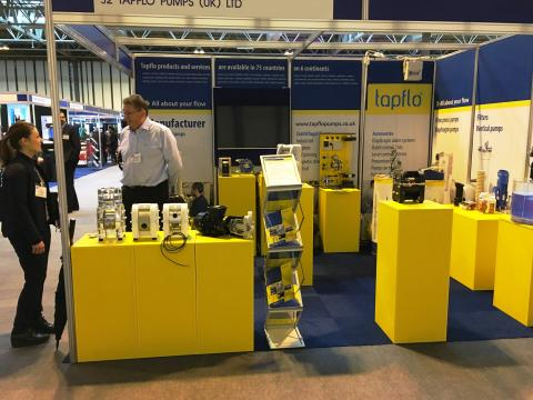 Tapflo UK at Surface World 2017 in Birmingham.