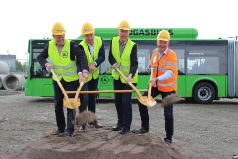 Första spadtaget för den nya stadsbussdepån