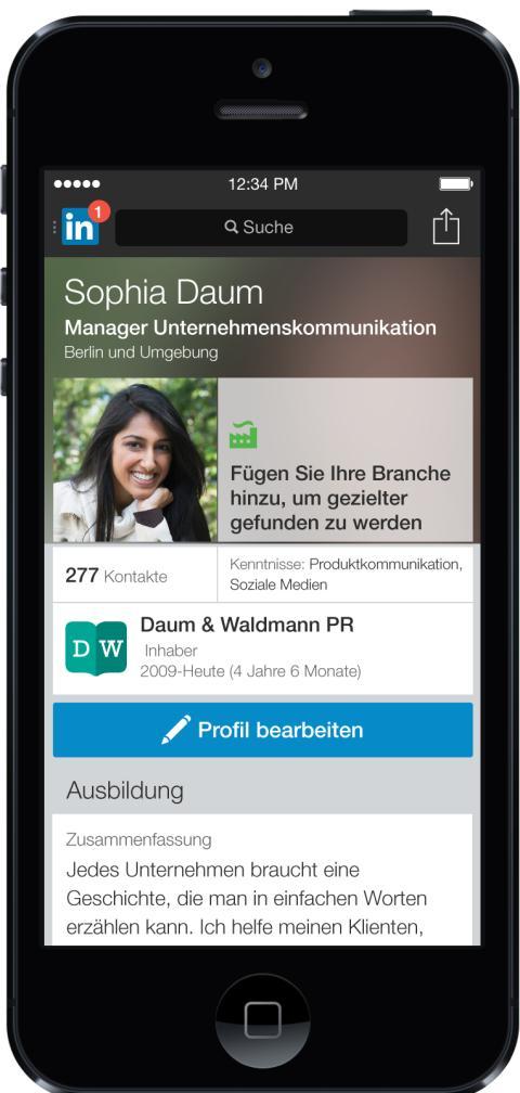 Linkedin optimiert Nutzerprofile für Mobilgeräte: iPhone