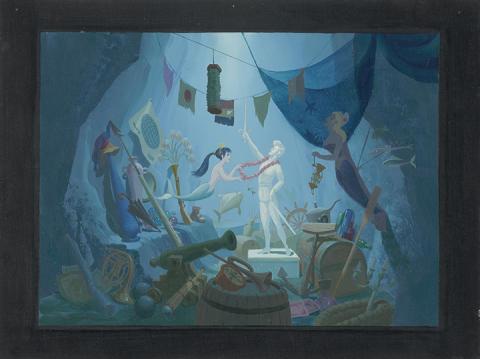 The Little Mermaid, Disney Studio Artist (1989) © Disney / Acrylic on canvas board