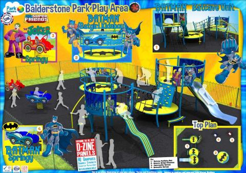A Rochdale park is getting a Batman themed makeover.