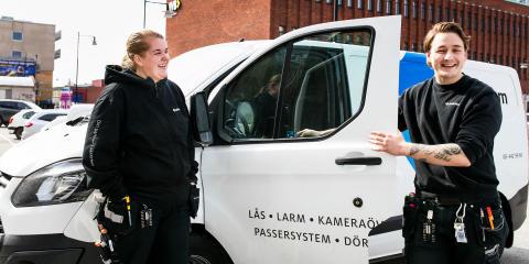 De har hittat framtidsjobbet på SafeTeam – utbildar sig till låstekniker