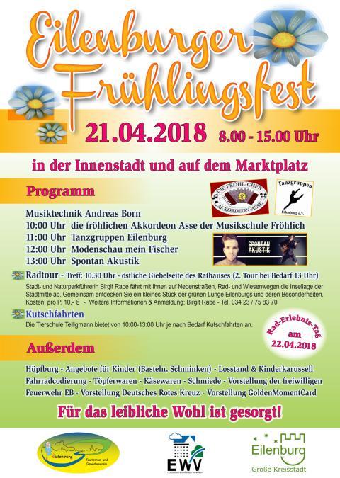 Eilenburger Frühlingsfest-Programmflyer 2018