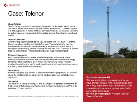 Customer case: Telenor