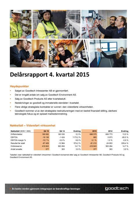 Kvartalsrapport Q4 2015