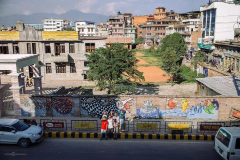 Künstler der Millerntor Gallery in Nepal: Nils Kasiske