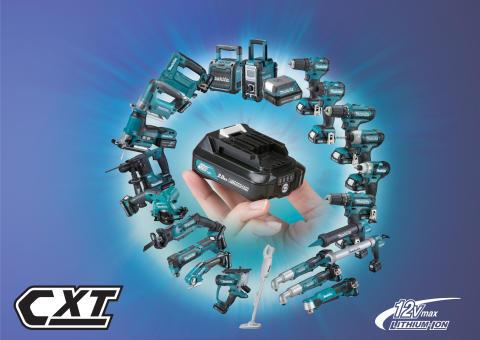 Makitas 12V CXT sortiment växer ytterligare -  nu över 20 maskiner