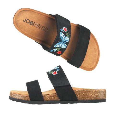 Broderad toffel/sandal