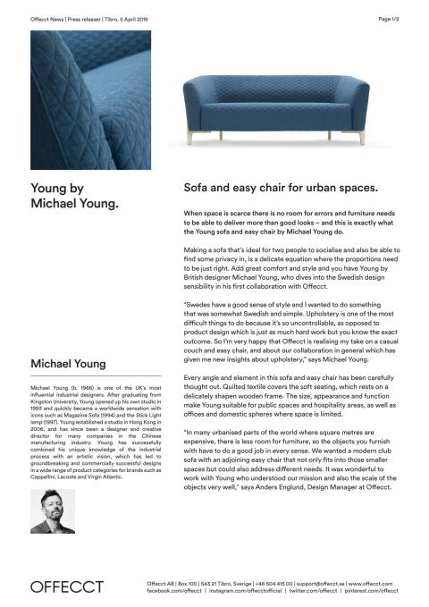 Offecct Press release Young by Michael Young_EN