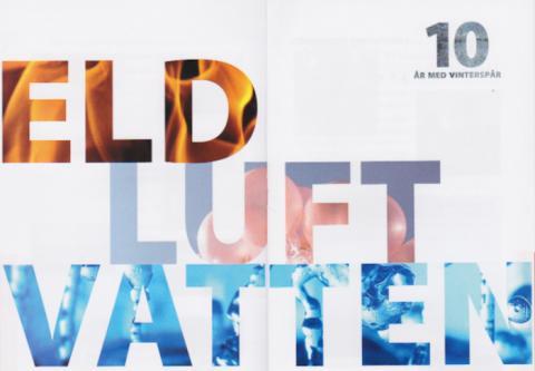 Vinterspår firar 10 år på temat Eld, Luft och Vatten