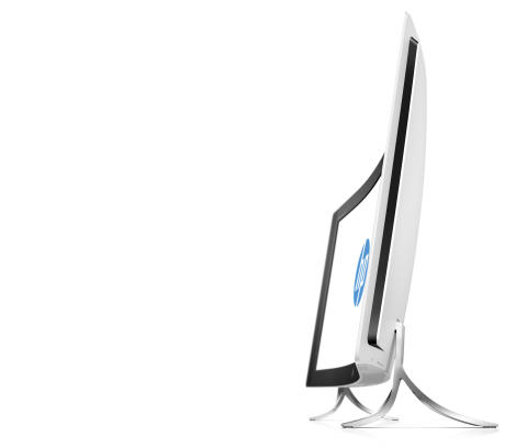 "HP ENVY Curved (34"", Blizzard White), Catalog, Left facing profile"