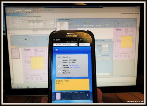 Attestera fakturor med Swinx nya mobilapp!