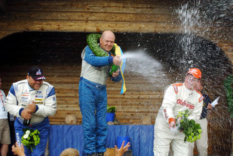 Rallycross-SM: Lasse Larsson segrade i Kalix