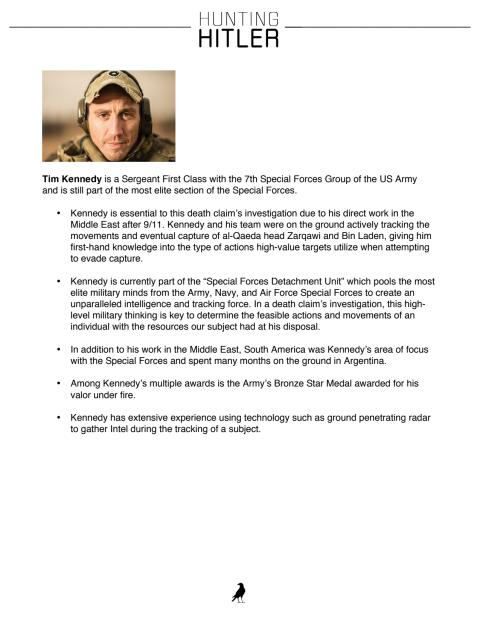 Hunting Hitler: Tim Kennedy