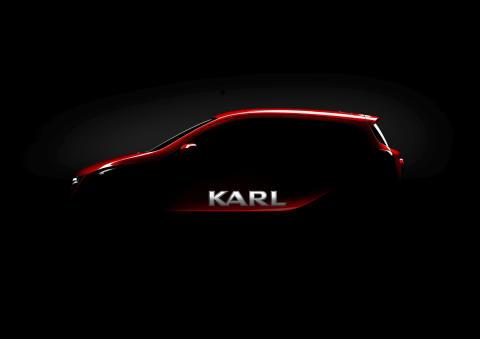 Ny liten bil med stort namn: Opel presenterar Karl