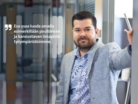 Etera palkitsi Länsi-Suomen parhaan pomon – ohjelmistoyhtiö Eatechin Esa Mäkelä johtaa innostaen, kannustaen ja perustellen