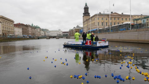 Premiär för städbåten Ren-Ström
