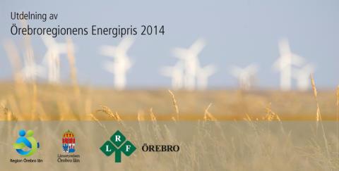 Utdelning av Örebroregionens energipris 2014