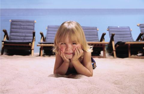 Skönt i sanden!