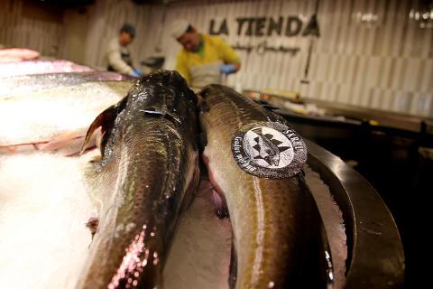 Skrei på fiskemarkedet i Madrid