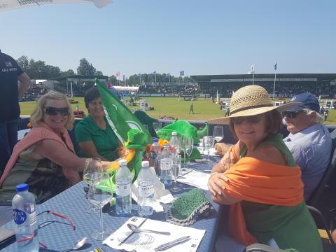 Irländska supportrar firar