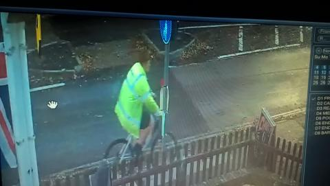 ​​Do you recognise man cycling in high vis jacket?