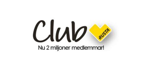 Två miljoner är nu medlemmar i Rustas kundklubb