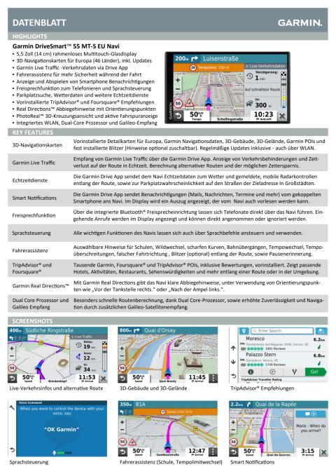 Datenblatt DriveSmart55 MT-S EU