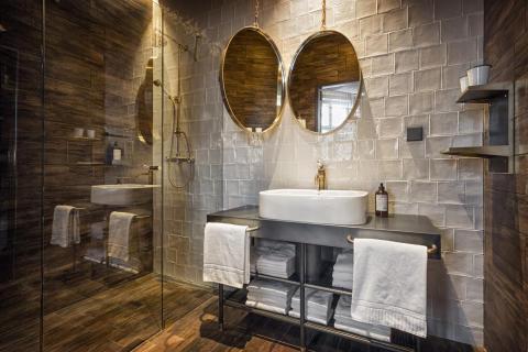 """Passion"" bathroom at Stora Hotellet Umeå by Stylt"