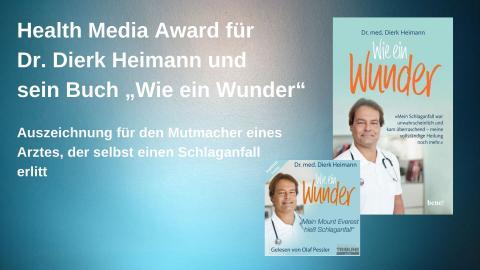 """""""Health Media Award"""" für Arzt-Autobiografie über Schlaganfall"""