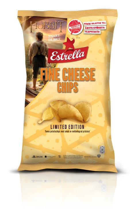 """Estrella sponsrar årets största filmpremiär,  """"Hobbit – en oväntad resa"""", och lanserar samtidigt en ny chipssmak"""