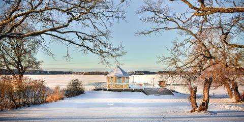 Lusthuset i vinterskrud